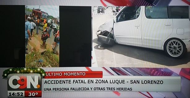 Imprudencia causa fatal accidente