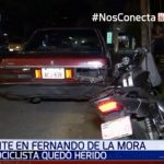 Conductor causa accidente por no encender su señalero